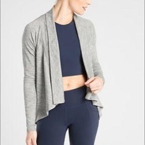 Athleta Nirvana Wear 2 Ways Wrap. Sz Medium. Grey